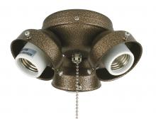 Fanimation F301AZ-220 - 3-LIGHT TURTLE FITTER: AGED BRONZE 220 VOLT