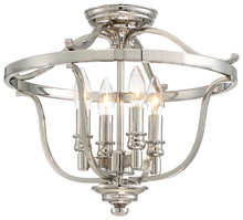 Minka-Lavery 3296-613 - 4 Light Semi Flush
