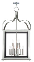 Livex Lighting 43180-91 - 6 Light + 3 Light Brushed Nickel Lantern