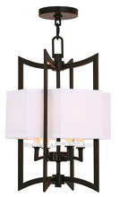 Livex Lighting 50703-67 - 4 Light Olde Bronze Foyer Chandelier