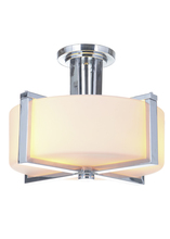 Jeremiah 39753-CH - Albany 3 Light Semi Flush in Chrome