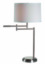 Kenroy Home 20940BS - Theta Swing Arm Table Lamp
