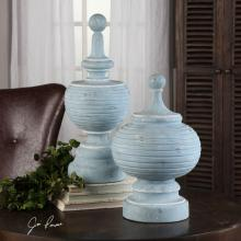 Uttermost 20185 - Uttermost Philippa Powder Blue Finials S/2