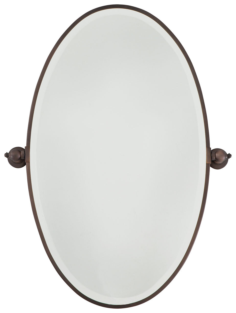 Xl Oval Mirror - Beveled