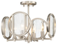 Minka-Lavery 3067-84 - 4 Light Semi Flush