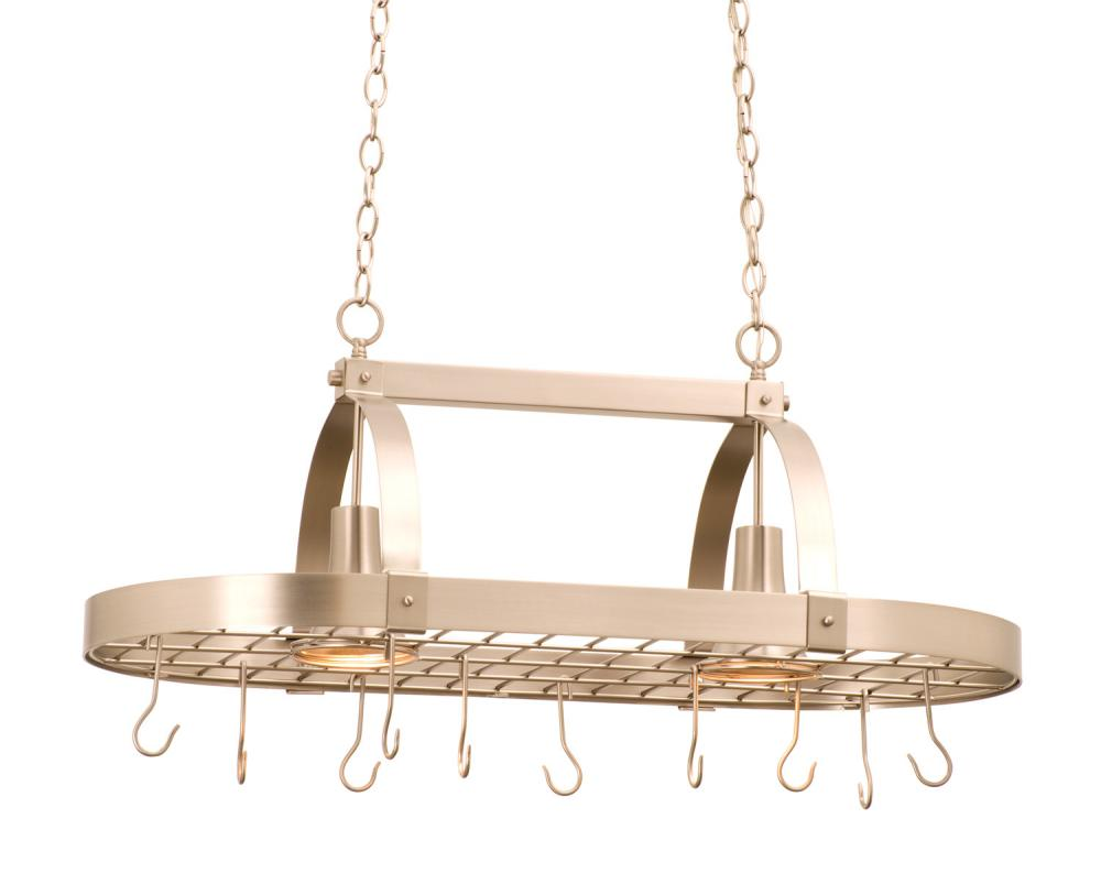 Contemporary 2 Light Pot Rack