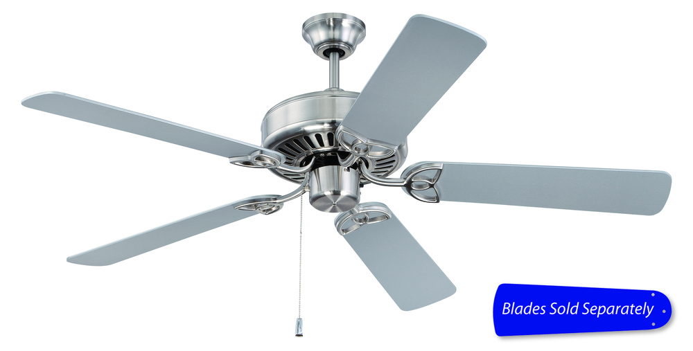 Cxl 52 ceiling fan in brushed satin nickel blades sold separately