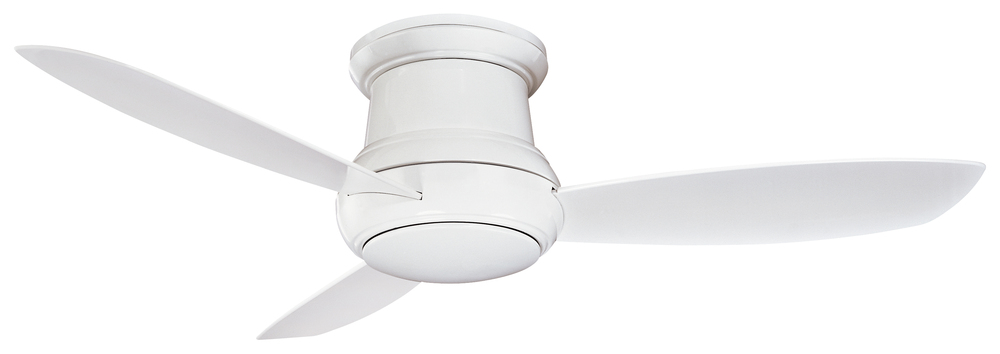 One Light White Outdoor Fan