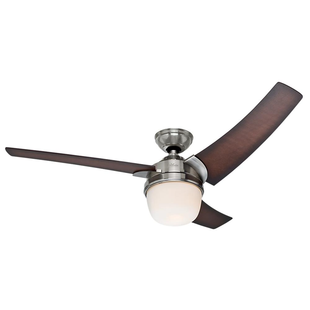 "54"" Ceiling Fan with Light with Handheld Remote"