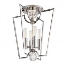 Hudson Valley 3004-PN - 4 Light Semi Flush
