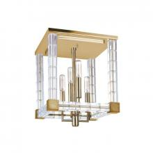 Hudson Valley 7112-AGB - 4 Light Semi Flush