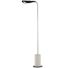 Hudson Valley HL157401-PN/BK - 1 Light Floor Lamp