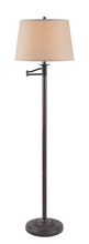 Kenroy Home 32215CBZ - Riverside Swing Arm Floor Lamp