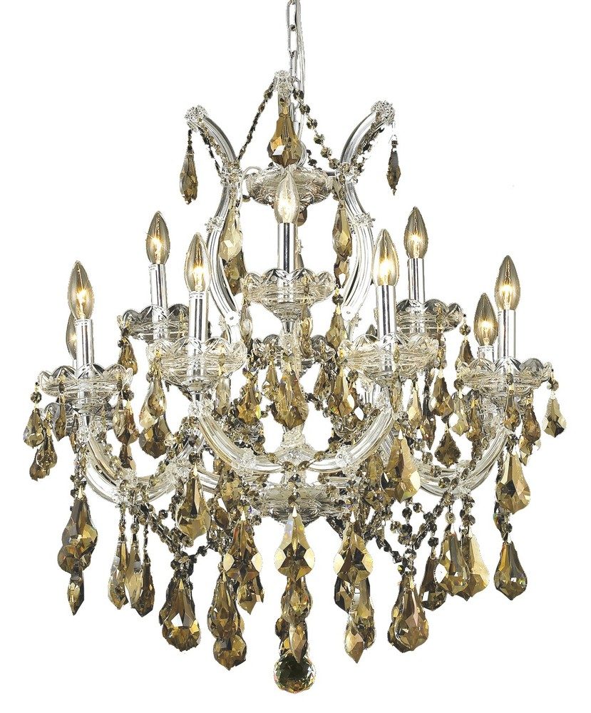 2801 Maria Theresa Collection Chandelier D:27in H:26in Lt:13 Chrome Finish (Swarovski® Elements Crys