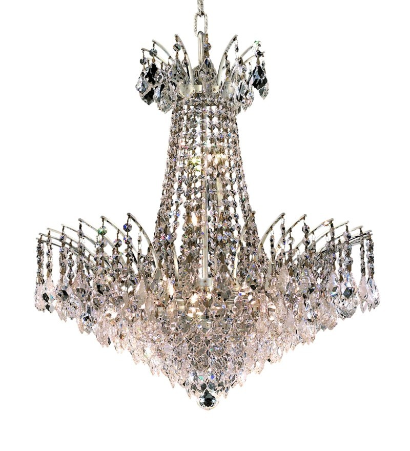 8033 Victoria Collection Chandelier D:24in H:24in Lt:11 Chrome Finish (Swarovski® Elements Crystals)