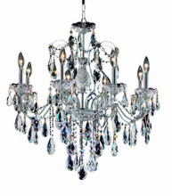Elegant 2016D26C/RC - 2016 St. Francis Collection Chandelier D:26in H:23in Lt:8 Chrome Finish (Royal Cut Crystals)