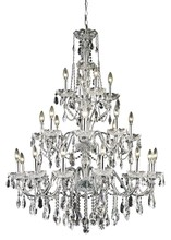 Elegant 2016G36C/SS - 2016 St. Francis Collection Chandelier D:36in H:49in Lt:24 Chrome Finish (Swarovski� Elements Crysta