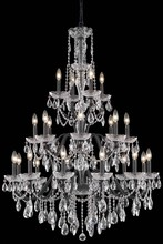 Elegant 2016G36DB/SS - 2016 St. Francis Collection Chandelier D:36in H:49in Lt:24 Dark Bronze Finish (Swarovski� Elements C