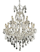 Elegant 2800D32C/SS - 2800 Maria Theresa Collection Chandelier D:32in H:42in Lt:19 Chrome Finish (Swarovski� Elements Crys