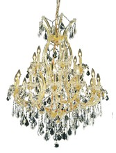 Elegant 2800D32G/SS - 2800 Maria Theresa Collection Chandelier D:32in H:42in Lt:19 Gold Finish (Swarovski� Elements Crysta