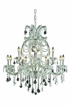 Elegant 2800D33C/SS - 2800 Maria Theresa Collection Chandelier D:33.5in H:35.5in Lt:12 Chrome Finish (Swarovski� Elements