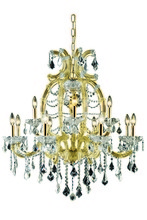 Elegant 2800D33G/SS - 2800 Maria Theresa Collection Chandelier D:33.5in H:35.5in Lt:12 Gold Finish (Swarovski� Elements Cr