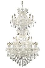 Elegant 2800D36SWH/SA - 2800 Maria Theresa Collection Chandelier D:36in H:56in Lt:34 White Finish (Spectra� Swarovski� Cryst