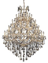 Elegant 2800G46G-GT/SS - 2800 Maria Theresa Collection Chandelier D:46in H:62in Lt:49 Gold Finish (Swarovski� Elements Crysta