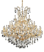 Elegant 2800G52G/SA - 2800 Maria Theresa Collection Chandelier D:52in H:54in Lt:41 Gold Finish (Spectra� Swarovski� Crysta