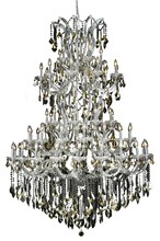 Elegant 2800G54C-GT/SS - 2800 Maria Theresa Collection Chandelier D:54in H:72in Lt:61 Chrome Finish (Swarovski� Elements Crys