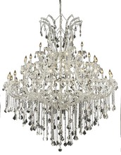 Elegant 2800G60C/SS - 2800 Maria Theresa Collection Chandelier D:60in H:72in Lt:49 Chrome Finish (Swarovski� Elements Crys