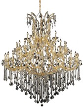 Elegant 2800G60G/SS - 2800 Maria Theresa Collection Chandelier D:60in H:72in Lt:49 Gold Finish (Swarovski� Elements Crysta