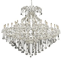 Elegant 2800G72C/SS - 2800 Maria Theresa Collection Chandelier D:72in H:60in Lt:49 Chrome Finish (Swarovski� Elements Crys
