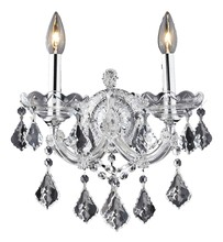 Elegant 2800W2C/SA - 2800 Maria Theresa Collection Wall Sconce D:12in H:16in E:8.5in Lt:2 Chrome Finish (Spectra® Swarovs