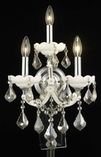 Elegant 2800W3WH-GT/RC - 2800 Maria Theresa Collection Wall Sconce D:12in H:22in E:8.5in Lt:3 White Finish (Royal Cut Crystal
