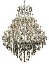 Elegant 2801G46C-GT/SS - 2801 Maria Theresa Collection Chandelier D:46in H:62in Lt:49 Chrome Finish (Swarovski� Elements Crys