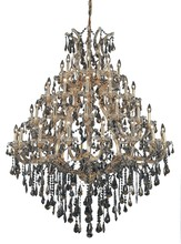 Elegant 2801G46G-GT/SS - 2801 Maria Theresa Collection Chandelier D:46in H:62in Lt:49 Gold Finish (Swarovski� Elements Crysta