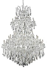 Elegant 2801G54C/SS - 2801 Maria Theresa Collection Chandelier D:54in H:72in Lt:61 Chrome Finish (Swarovski� Elements Crys