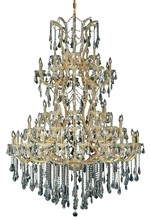 Elegant 2801G54G/SS - 2801 Maria Theresa Collection Chandelier D:54in H:72in Lt:61 Gold Finish (Swarovski� Elements Crysta
