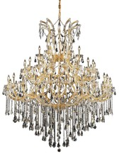 Elegant 2801G60G/SS - 2801 Maria Theresa Collection Chandelier D:60in H:72in Lt:49 Gold Finish (Swarovski� Elements Crysta