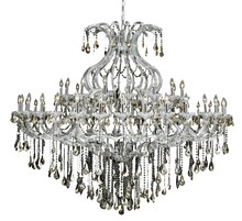 Elegant 2801G72C-GT/RC - 2801 Maria Theresa Collection Chandelier D:72in H:60in Lt:49 Chrome Finish (Royal Cut Crystals)