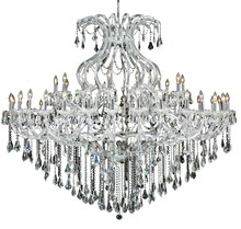 Elegant 2801G72C/SS - 2801 Maria Theresa Collection Chandelier D:72in H:60in Lt:49 Chrome Finish (Swarovski� Elements Crys