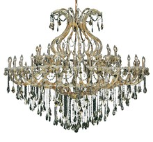 Elegant 2801G72G-GT/RC - 2801 Maria Theresa Collection Chandelier D:72in H:60in Lt:49 Gold Finish (Royal Cut Crystals)
