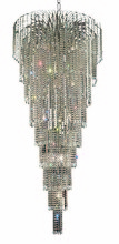 Elegant 6801G30C/SA - 6801 Falls Collection Chandelier D:30in H:72in Lt:15 Chrome Finish (Spectra� Swarovski� Crystals)