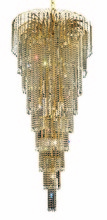 Elegant 6801G30G/SA - 6801 Falls Collection Chandelier D:30in H:72in Lt:15 Gold Finish (Spectra� Swarovski� Crystals)