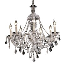 Elegant 7831D26C/RC - 7831 Alexandria Collection Chandelier D:26in H:28in Lt:7 Chrome Finish (Royal Cut Crystals)