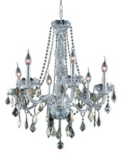 Elegant 7856D24C-GT/RC - 7856 Verona Collection Chandelier D:24in H:28in Lt:6 Chrome Finish (Royal Cut Crystals)