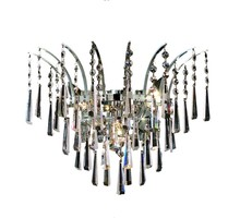 Elegant 8032W16C/EC - 8032 Victoria Collection Wall Sconce D:16in H:13in E:8in Lt:3 Chrome Finish (Elegant Cut Crystals)