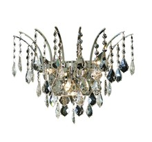 Elegant 8033W16C/EC - 8033 Victoria Collection Wall Sconce D:16in H:13in E:8in Lt:3 Chrome Finish (Elegant Cut Crystals)