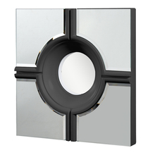 Elegant MR-3018BK - Modern 24 in. Contemporary Mirror in Black